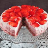 Keto truskawkowe ombre cake (Paleo, LowCarb)