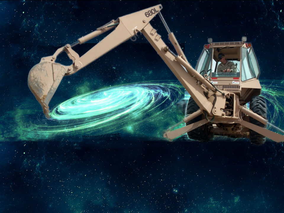 Digger creating a galaxy