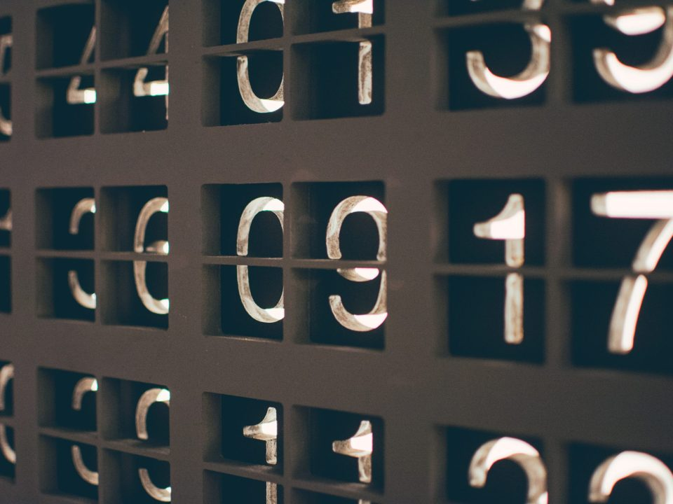 assorted numbers photography