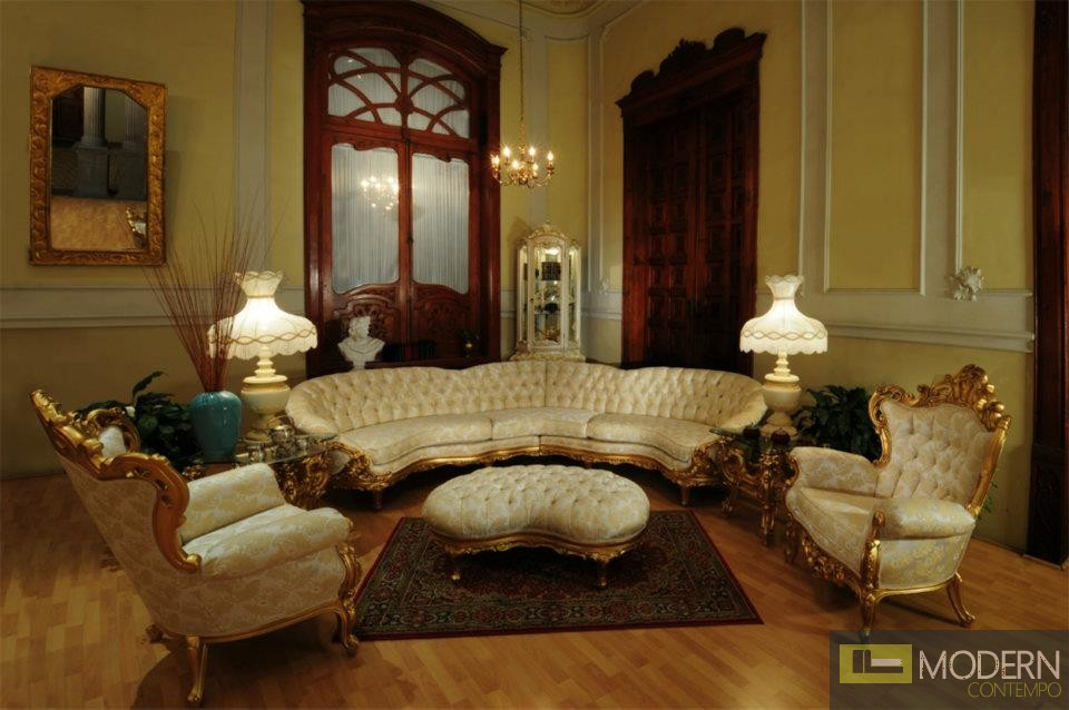 3PC High End Classic Provincial Victorian Sofa Loveseat