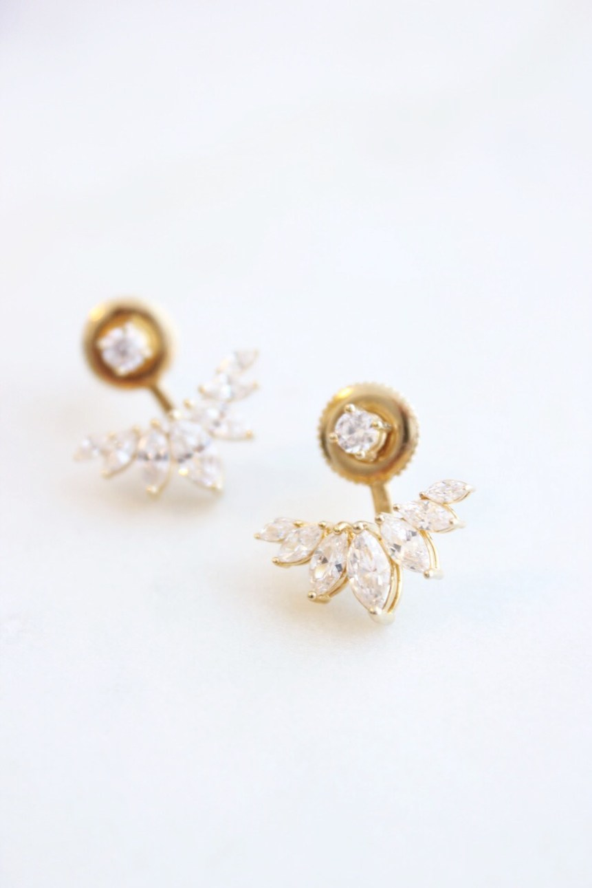 Gold Earring Jackets on Modern Daydream Living