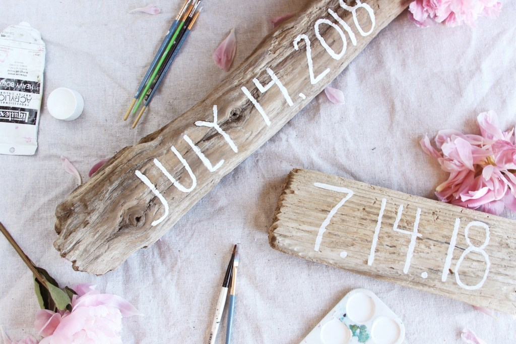 DIY Engagement Save The Date Sign