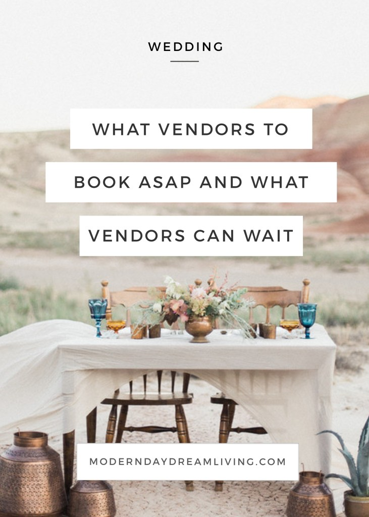 Wedding Vendor Priority
