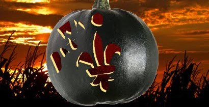 FREE New Orleans Saints Pumpkin Carving Stencil