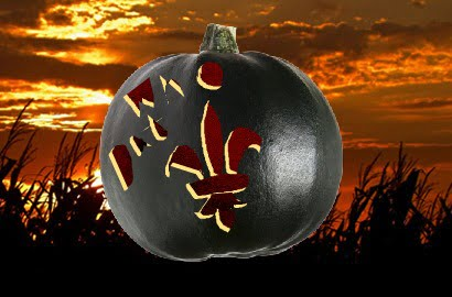 New Orleans Saints Pumpkin Carving
