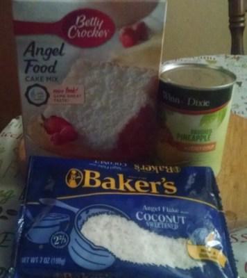 3 Ingredient Pineapple Coconut Angel Food Cake Recipe