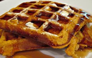 Simple Pumpkin Waffles
