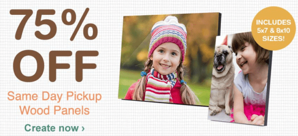 Walgreens Photo Panels 75% off = 5×7 for $3.75!
