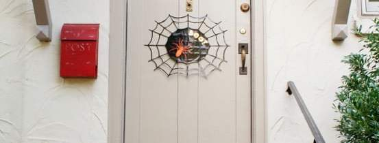 Halloween Duct Tape Spider Web Door Sign