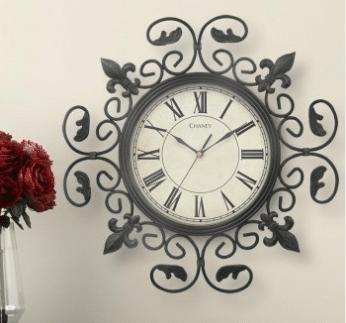 Acurite Metal Fleur de Lis Wall Clock Dresses up your wall!