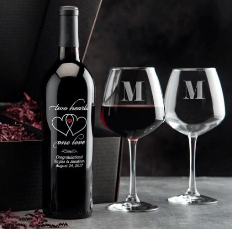 Custom Etched Wine