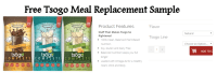 Free tsogo meal replacement sample