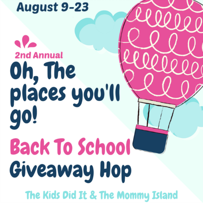 Oh, The Places You'll Go! Giveaway Hop #back2school2017