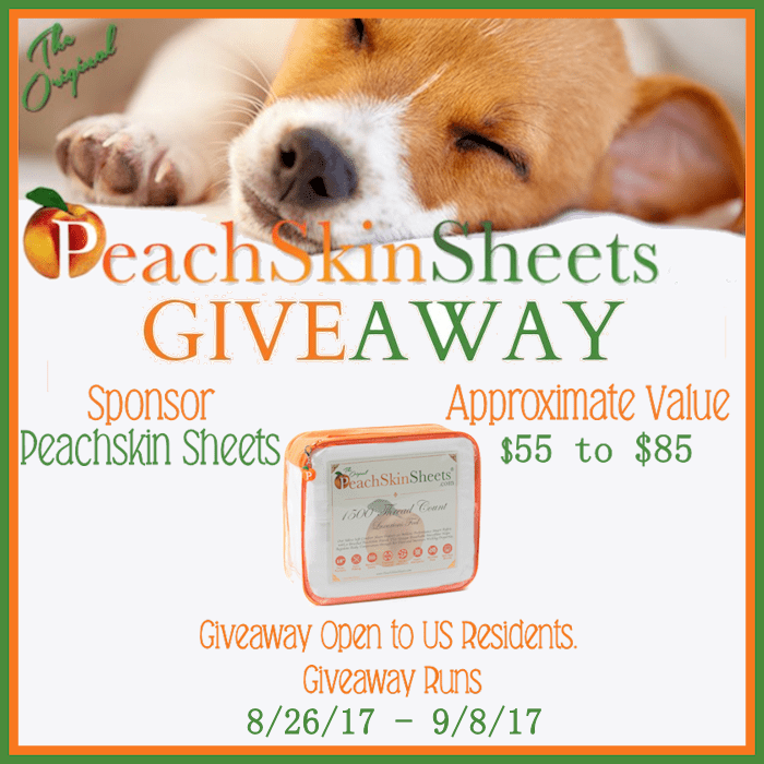 Enter our PeachSkin Sheets Giveaway ($55 Value) #AD #Giveaway