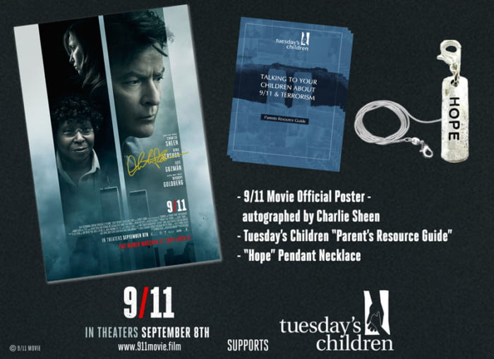 9/11 Film Charlie Sheen Autographed Poster Gift Pack #Remember911 #ad