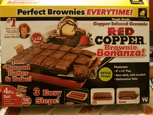 Take Baking up a Level with a Red Copper Brownie Bonanza Pan #AD @BulbHeadIdeas
