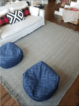 Rug and Poofs