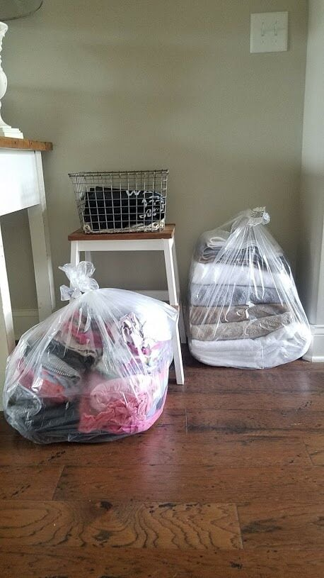 Drop off of Folded Laundry