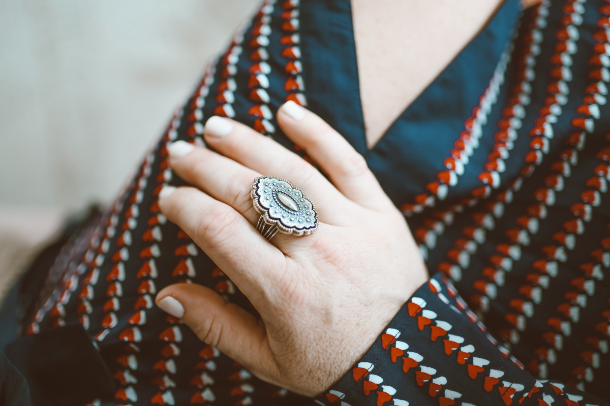 Galentine's Gifts featured by top US life and style blog Modern Day Moguls; Image of a woman wearing a James Avery ring.