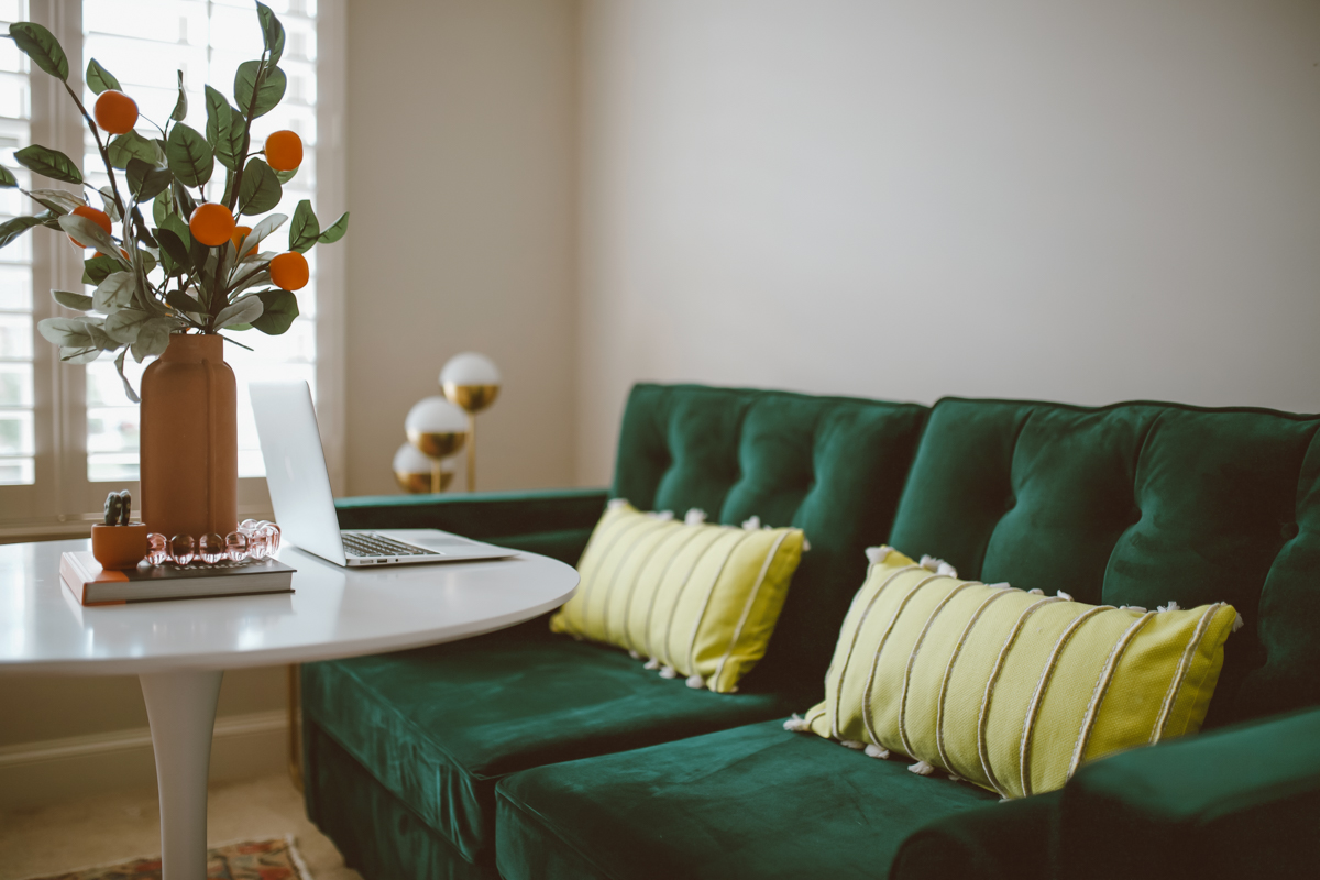 Our Guest Room Office Conversion featured by top US life and style blog, Modern Day Moguls