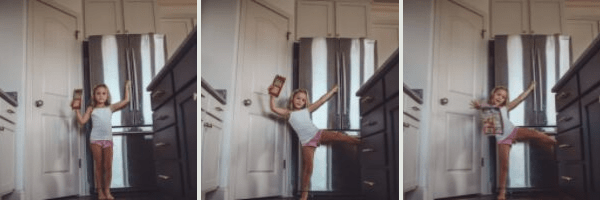 Kid Friendly​ Meal Prep Ideas ​: Back to School Edition by popular Nashville life and style blog, Modern Day Moguls: image of a little girl holding a package of Sargento sliced cheese in the kitchen.