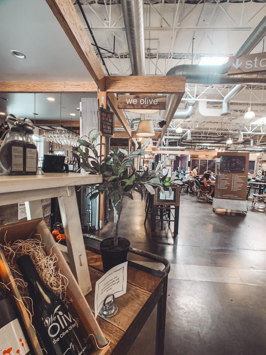 California Vacation Ideas for a Momcation in Orange County by popular Nashville travel blog, Modern Day Moguls: image of the interior at We Olive.