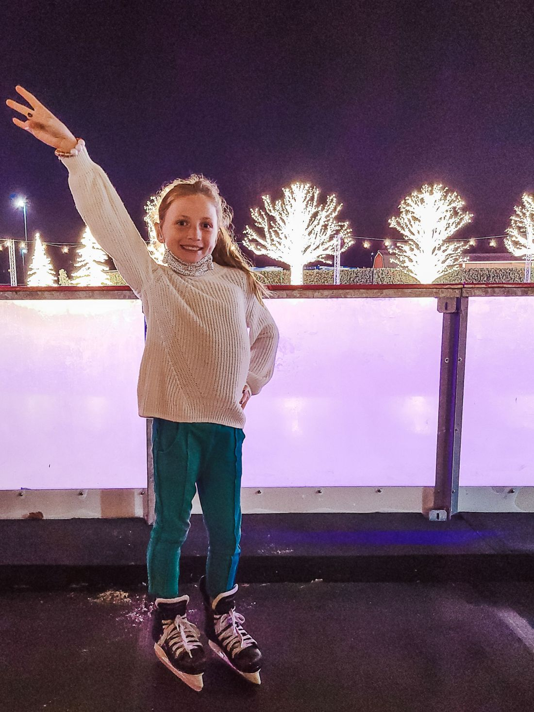 Gaylord Opryland Christmas by popular Nashville blog, Modern Day Moguls: image of a young girl ice skating.