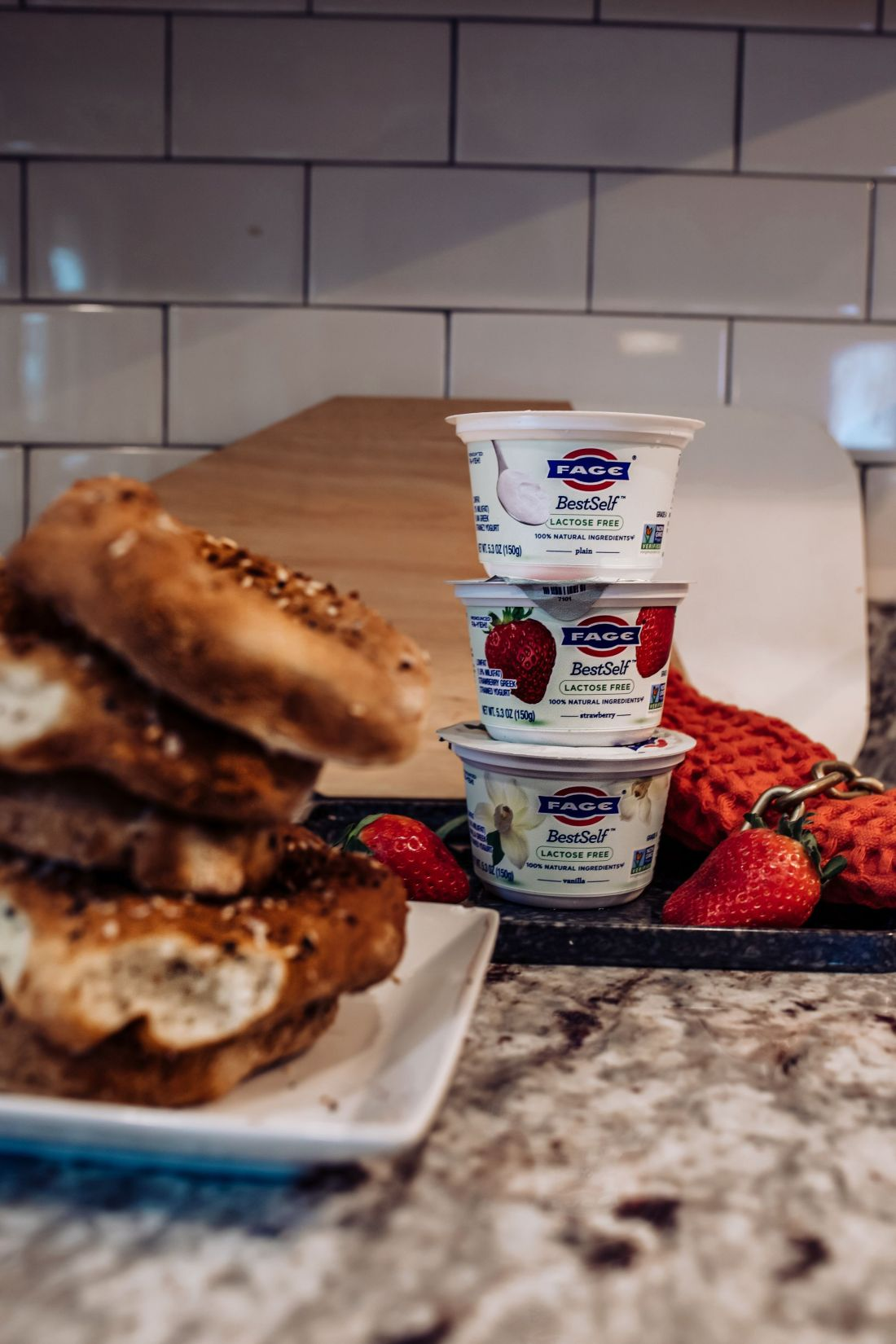 Keeping New Year's Resolutions by popular Nashville lifestyle blog, Modern Day Moguls: image of stacked Fage yogurt cups.