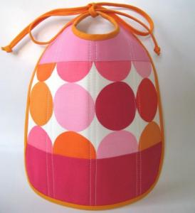 22. Little Choux - Quilted Pink Dot Bib