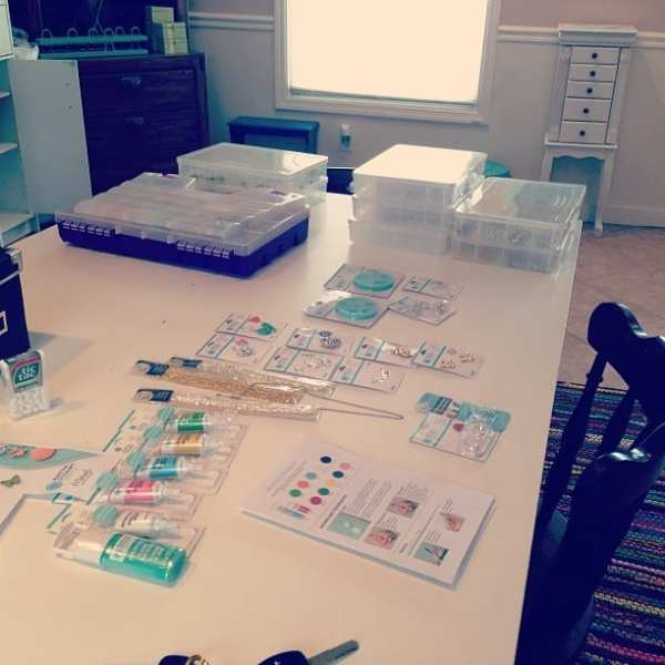 Sneak peek at the craft space! This is where a lot of projects come in to play. :)
