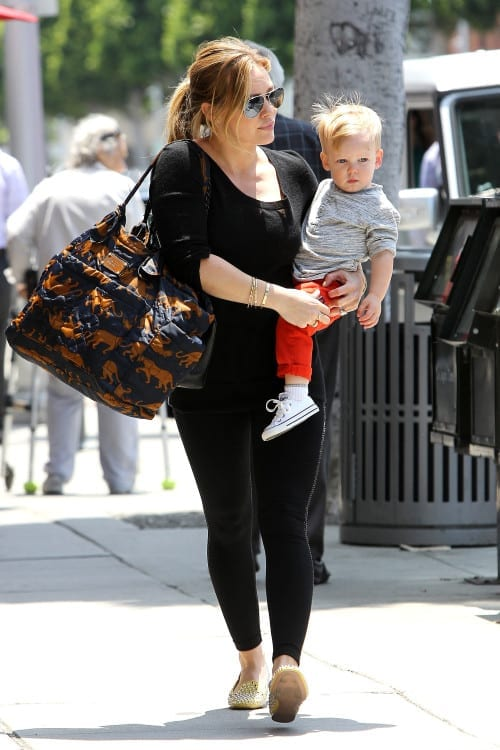 Hilary Duff and Luca are Joined at the Hip