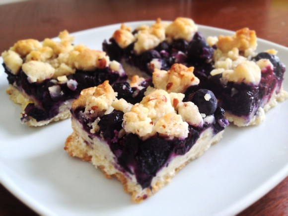 Blueberry Bars with Almond Crumble