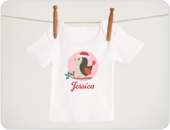 Christmas-Bird-baby-shirts