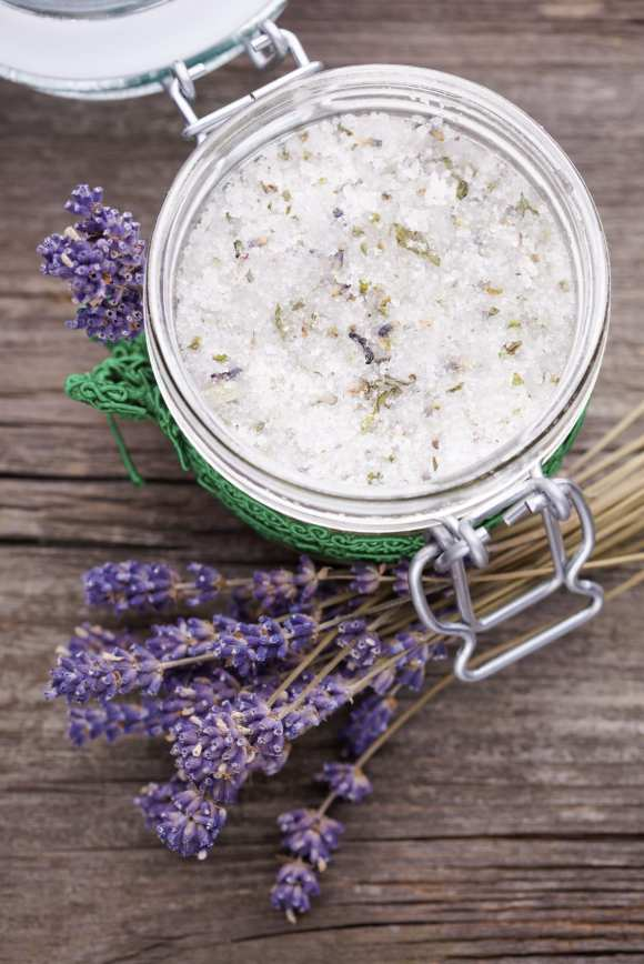 Natural lavender and coconut body scrub
