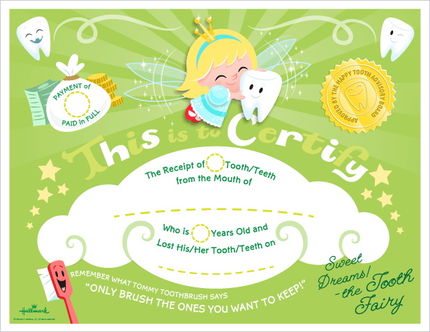 photo about Tooth Fairy Certificate Printable Girl identify The Cutest Teeth Fairy Certificates (printables)