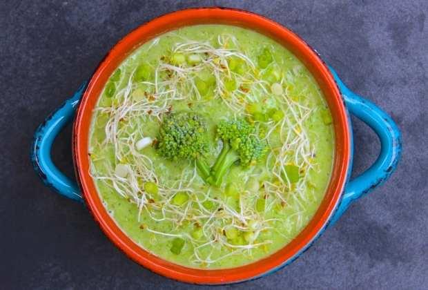 Avocado and Raw Broccoli Soup