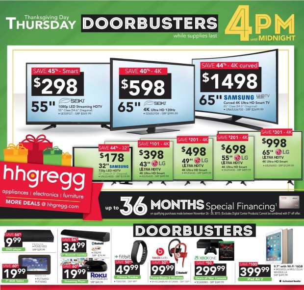 hhgregg - Black Friday Ad - Thursday Doorbusters