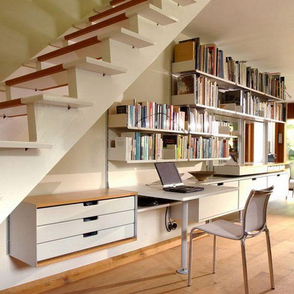 Diseño Diseño de una oficina bajo la escalera