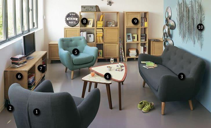 le salon vintage poppy chez alinea