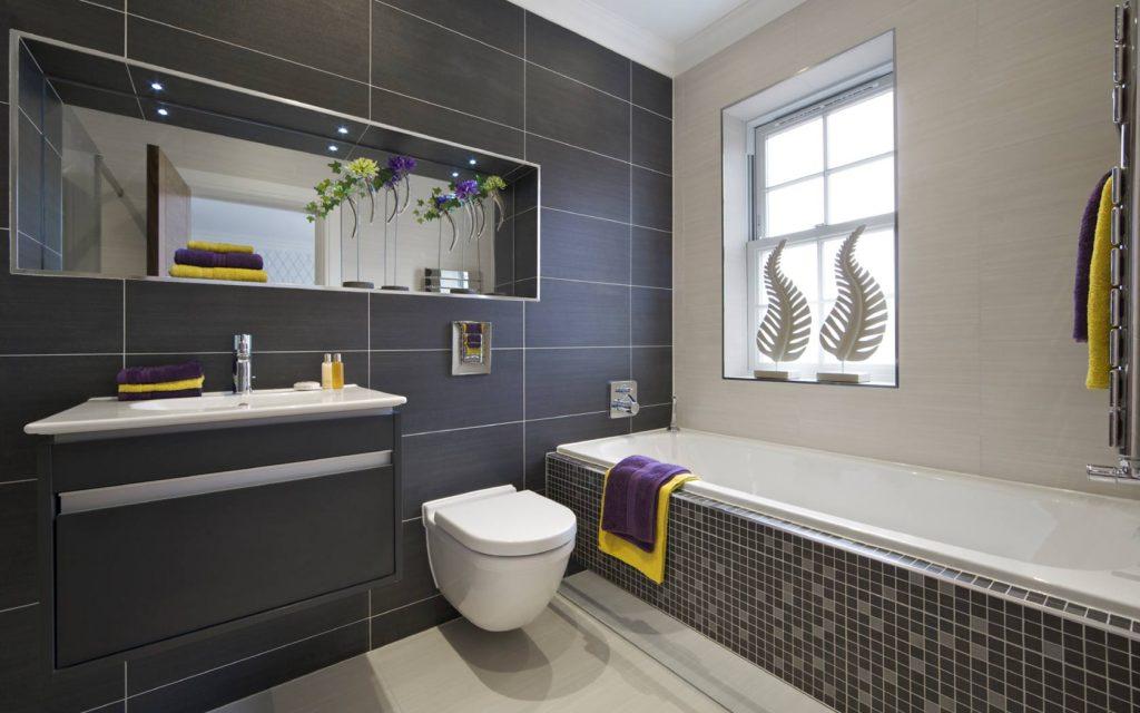 gris et bleu deux couleurs en osmose dans la salle de bain 23 idees deco