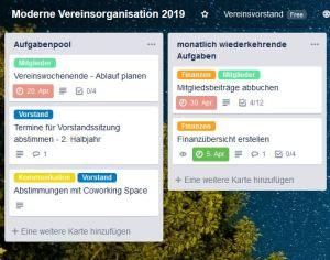 Digitalisierung im Verein – Aufgaben digital strukturieren
