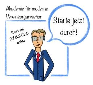 Die Akademie für Moderne Vereinsorganisation ist online