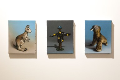 Kangaroo, scarecrow and walrus