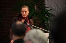 """Anne M. N. Sokoll M.A. beim Vortrag über """"Türkischer Prometheus - Deutscher Prometheus. Zum Kultur- und Wissenstransfer zwischen Deutschland und der Türkei"""""""