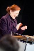 """Sehr zur Freude der Institutsleiterin, am Institut """"Moderne im Rheinland"""" wird aktuell ein großes Forschungsprojekt zu """"Louise Dumont und das 20. Jahrhundert"""" vorbereitet"""
