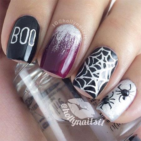 20 Simple Amp Scary Halloween Nail Art Designs Ideas