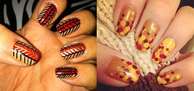 Cute Thanksgiving Nail Designs
