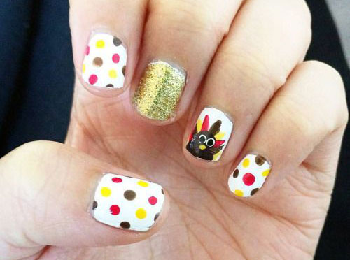 25 Inspiring Easy Thanksgiving Nail Art Designs Ideas