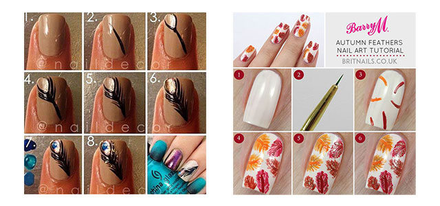 Easy Simple Autumn Fall Nail Art Tutorials For