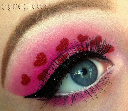 12 Valentines Day Heart Eye Makeup Looks Amp Ideas For